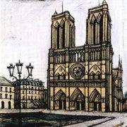 Bernard Buffet - Notre Dame de Paris, 1988.