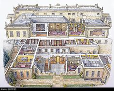 cut-away-perspective-drawing-of-dyrham-park-by-peter-brears-1998