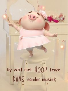 Cute Piglets, Goeie Nag, Goeie More, Afrikaans Quotes, Inspirational Qoutes, Good Morning Wishes, Little Pigs, Wees, Hart