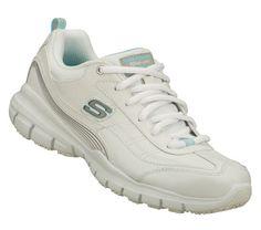 f70f02ea3d03 SKECHERS Womens Work Tone Ups Liberate Sr Non-slip Shoes - White - 7  Skechers