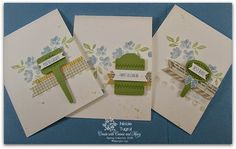 Be Creative with Nicole: Card set featuring From the Garden and Handpicked Framelits.