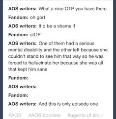 I think that was the actual conversation the writes had