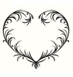 Flourishing heart vector 1059728 - by HelenaOhman on VectorStock®