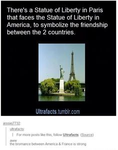 I didn't know that<<< apparently there's also a third one in Berlin, Germany that also faces the two in America and France :D>>> damn, bromance!!!
