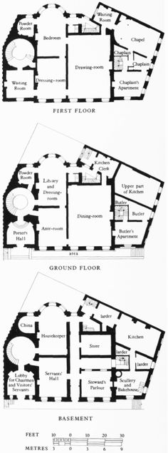 Plan Of Admiralty House First Lord The Admiraltys Residence