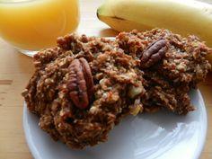 Madame Labriski - Ces galettes dont tout le monde parle - : LA GOOD MORNING BANANE! (galette banane, pacane et... Healthy Baking, Healthy Recipes, Nutrition, Low Cholesterol, Energy Bites, Gluten Free Cookies, Sweet Recipes, Biscuits, Cupcake Cakes