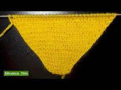 CHAL TRIANGULAR fácil (tricot / dos agujas rectas) - YouTube