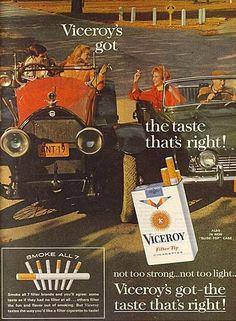 1963 Viceroy VINTAGE Cigarette Print Ad Saturday Evening Post Magazine