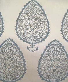 leaf wallpaper in blue from katie ridder