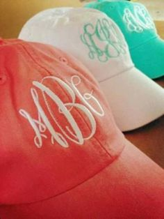 Monogrammed Baseball Cap by SewWunderfulDesigns on ...