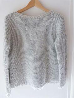 DIY tricot - pull en point mousse