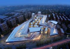 Shanghai Wuzhou International Plaza -  Synthesis Design + Architecture Inc.  Shenzhen General Institute of Architectural Design and Research