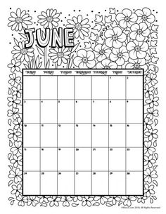 March 2018 Coloring Calendar Page | Bullet journals, Bullet and Journal