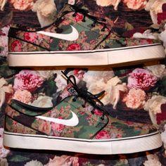 #floral on floral #nike #swoosh #kicks