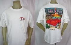 Vette Vues Magazine White Pre-Shrunk Cotton ET Motor Gear Apparel Size XL #ETMotorGear #GraphicTee