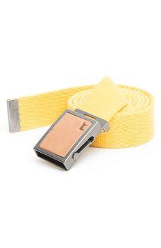 Men's Will Leather Goods 'Gunner' Belt - Yellow