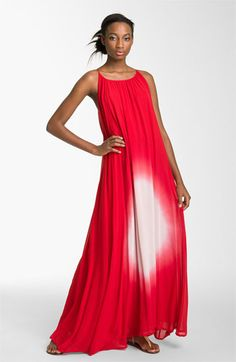 French Connection Tie Dye Silk Chiffon Maxi Dress available at Nordstrom