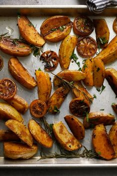 NYT Cooking: A potato doesn't need much else other than oil, salt and a hot oven to be truly delicious. But dust them with smokey paprika, and roast them alongside tangy lemon slices on a bed of woodsy rosemary, and you have some truly special potatoes. A large and waxy potato is best here (Yukon Golds especially), but know that a starchy potato like an Idaho would also work; just expect something fluffier ...