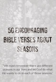 We must remember there are different seasons in our lives and let God do what He wants to do in each of those seasons. Encouraging Bible Verses, Bible Encouragement, Biblical Quotes, Christian Encouragement, Bible Quotes, Scriptures, Christian Love, Christian Living, Season Quotes