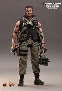 Arnold Schwarzenegger and Commando fans don�t pass up on the opportunity to pre-order this heavily-armed collectible figure! Description from sideshowcollectors.com. I searched for this on bing.com/images