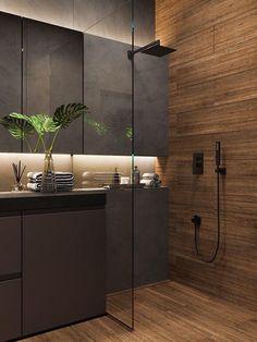 Rustic Bathroom Designs, Bathroom Design Luxury, Modern Bathroom Design, Home Interior Design, Bathroom Layout, Bathroom Design Inspiration, Toilet Design, Pin Pin, Autocad