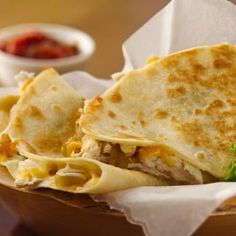Use rotisserie chicken and prepared salsa for these quick quesadillas.