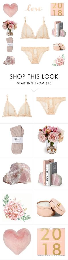 """""""rose gold 🌹"""" by saddenseven ❤ liked on Polyvore featuring Le Petit Trou, Johnstons of Elgin, Nordstrom Rack and Primitives By Kathy"""
