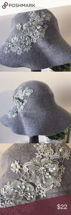 Black, One Size August Hats Company Womens Appliqué Floppy Hat