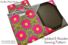 Sewing: E-Reader Cover Pattern, iPad, Kindle Sewing Basics, Sewing Hacks, Sewing Tutorials, Sewing Crafts, Sewing Projects, Sewing Classes For Beginners, Quilting For Beginners, Capas Kindle, Kindle Cover
