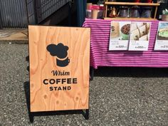 whim coffee stand 手書き看板                                                                                                                                                                                 もっと見る