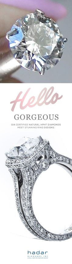 Hello Gorgeous by HadarDiamonds.com .. Where GIA Certified Natural Diamonds Meet Stunning Ring Design.  #engagementrings