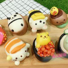 Cute Food, Good Food, Kawaii Dessert, Summer Cookies, Pastry Art, Steamed Buns, Cute Clay, Bakery Cafe, Asian Cooking