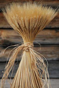 It's a Swedish tradition to take wheat sheeves outside your home at Christmas to feed the birds and animals during the holiday.