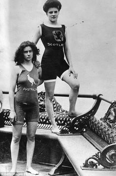 Miss McKay and Miss Kerr, champion swimmers for Scotland and Australia