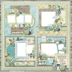 Just Beachy Digital Scrapbook Kit 12x12 Quick by JssScrapBoutique, $2.99