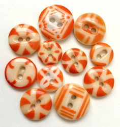 Antique China Stencil Buttons