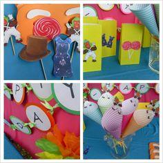Willy Wonka Birthday Party Set by daisycelebrates on Etsy, $35.00