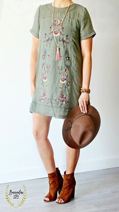 Greenwich Tunic Dress - Olive