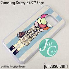 Girl Hide In Balloon Phone Case for Samsung Galaxy S7 & S7 Edge
