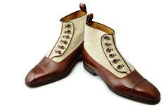 #Aubercy - Lawrence - Bottine - Ligne mesure - Sur mesure - Made to order - Veau et toile - Calfskin and canvas - #Dapper - #Men - #Shoes ---