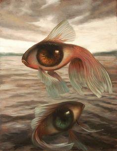 Fish Eyes Ocean Sea by Vincent Cacciotti