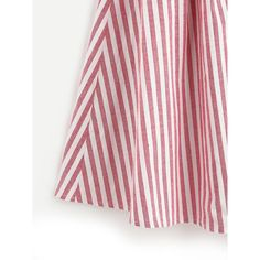 SheIn(sheinside) Buttoned Front Pleated Striped Skirt ($16) ❤ liked on Polyvore featuring skirts, long summer skirts, long pleated skirt, long maxi skirts, long pleated maxi skirt and long striped skirt