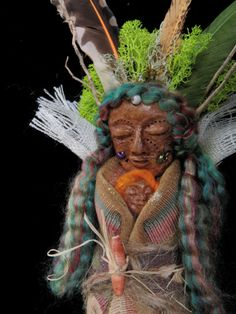 OOAK  Healing Spirit Doll Feathered Grandmother by JoyfulEssence, $64.99 Artist Lili McGovern