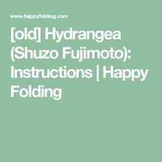 Old Hydrangea Shuzo Fujimoto Instructions