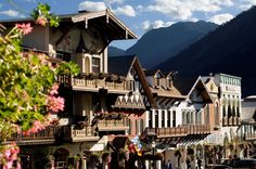 Leavenworth, Washington.  Want a Bavarian experience without using your passport? The entire town center is modeled on a Bavarian village.  Spend time exploring the German shops and restaurants and afterwards, head to the mountains for hiking, rock climbing, biking and skiing.