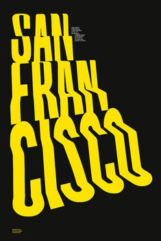 #graphicdesign San Francisco Inside/Outside #poster entry by Gareth HowatPrint by hat-trick design, via Flickr