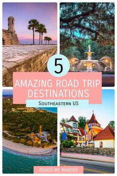Discover 5 great road trip destinations on the East Coast! Located in the Southeastern US, these destinations are perfect for winter travel! Winter Travel, Summer Travel, Road Trip Adventure, Road Trip Destinations, Ghost Tour, Disney World Tips And Tricks, Disney World Vacation, East Coast, Road Trips