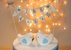 Wedding Cake Topper Love Birds PLUS BANNER by RusticWeddingDay