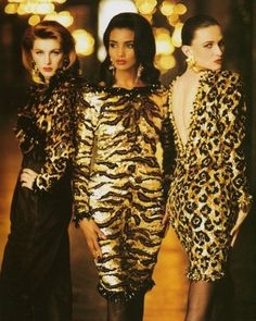 YSL, late Models : Ludmila Isaeva Malahova & Unknowns Yves and Leopard, a pair made in Heaven ! Yves Saint Laurent Paris, 80s And 90s Fashion, High Fashion, Original Supermodels, Animal Print Fashion, Animal Prints, Evolution Of Fashion, Lesage, Leopard Dress