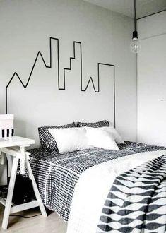 blanco y negro habitacion